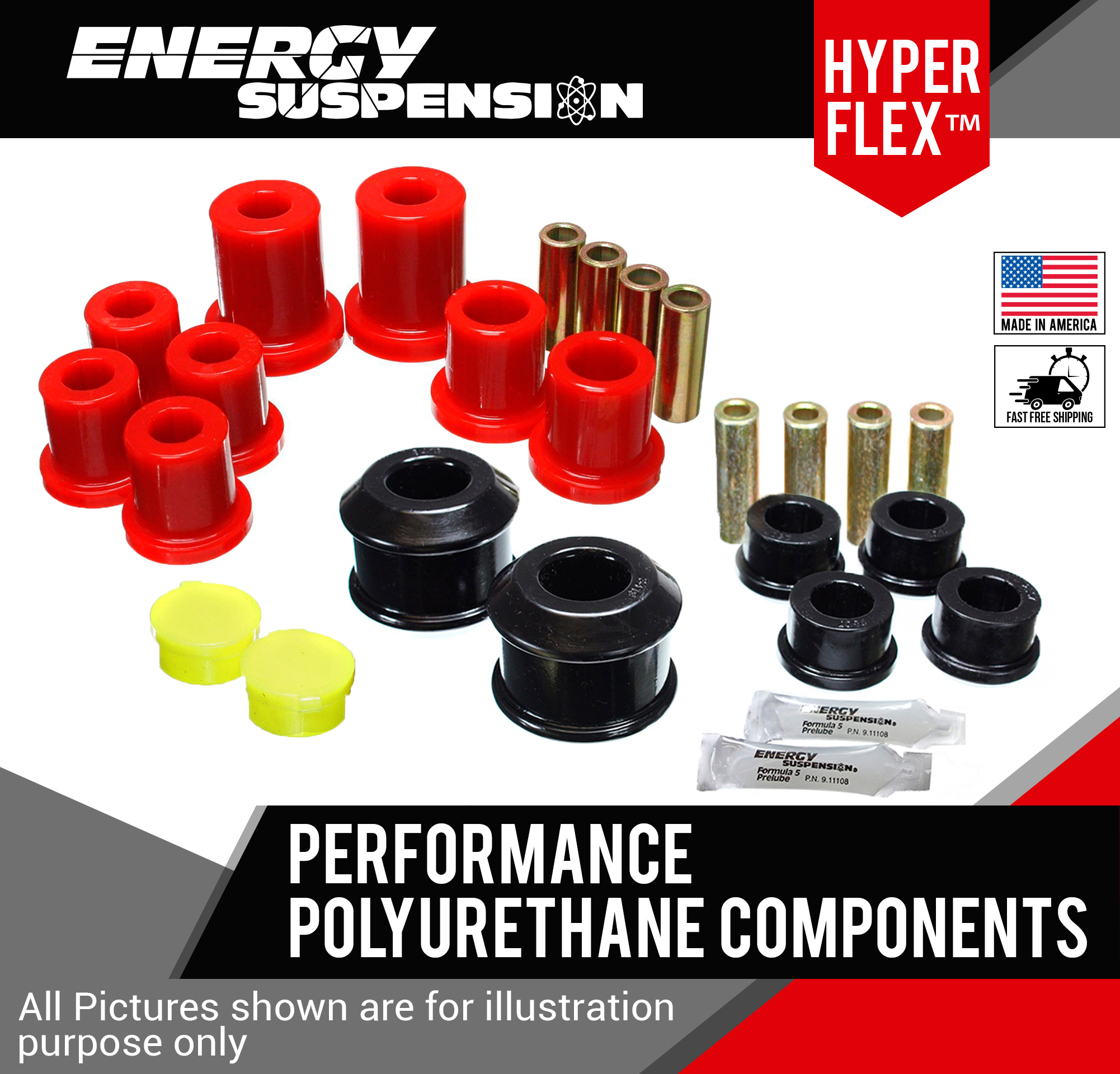 Image is loading Suspension-Control-Arm-Bushing-Kit-Front-Energy-16-